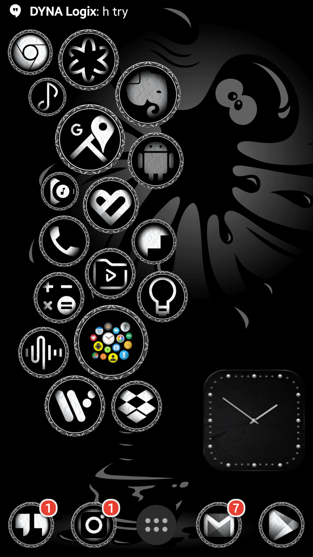 Regular Black Army icon pack (other variant)