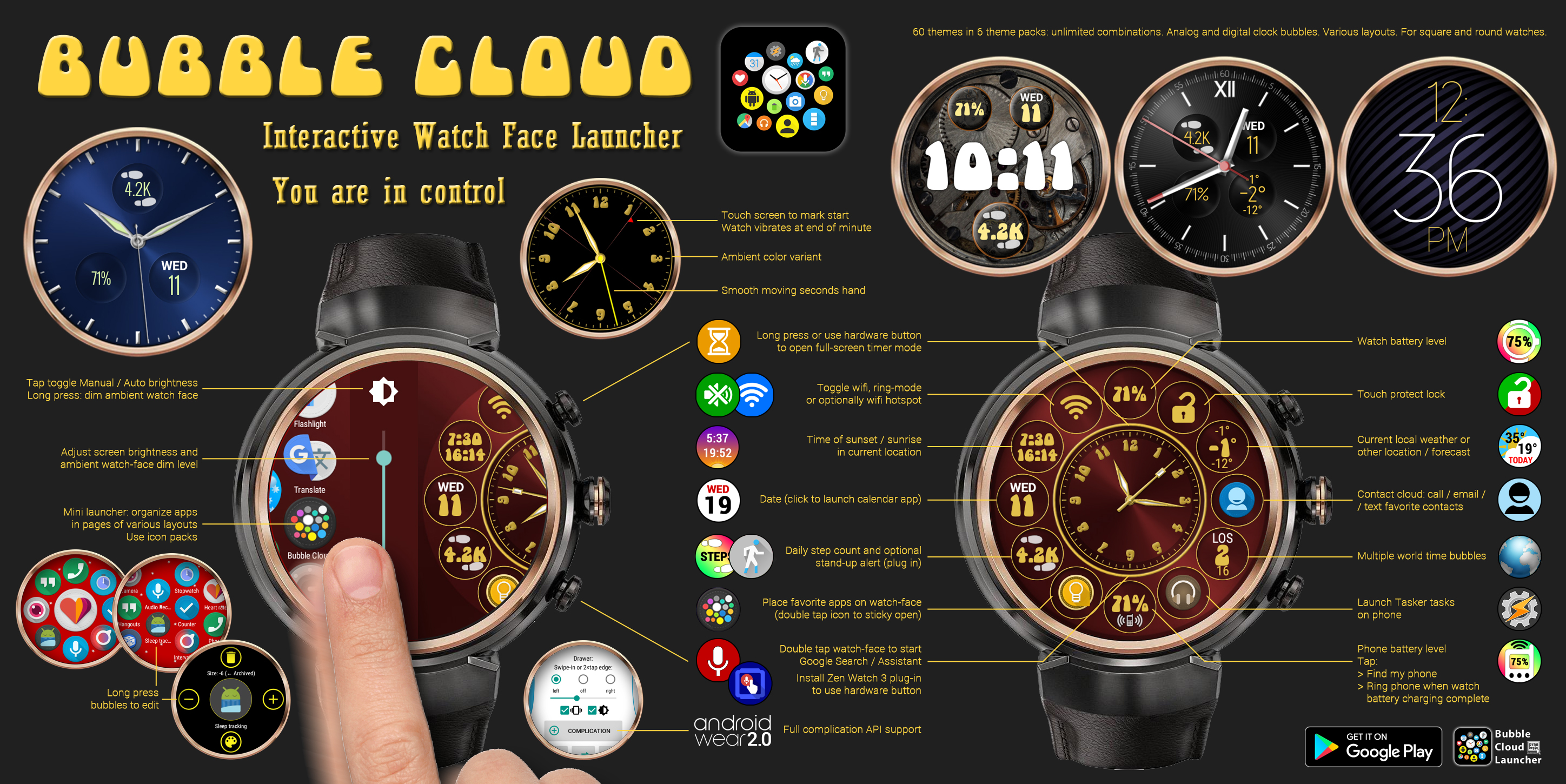 Bubble Cloud Watch Face Launcher