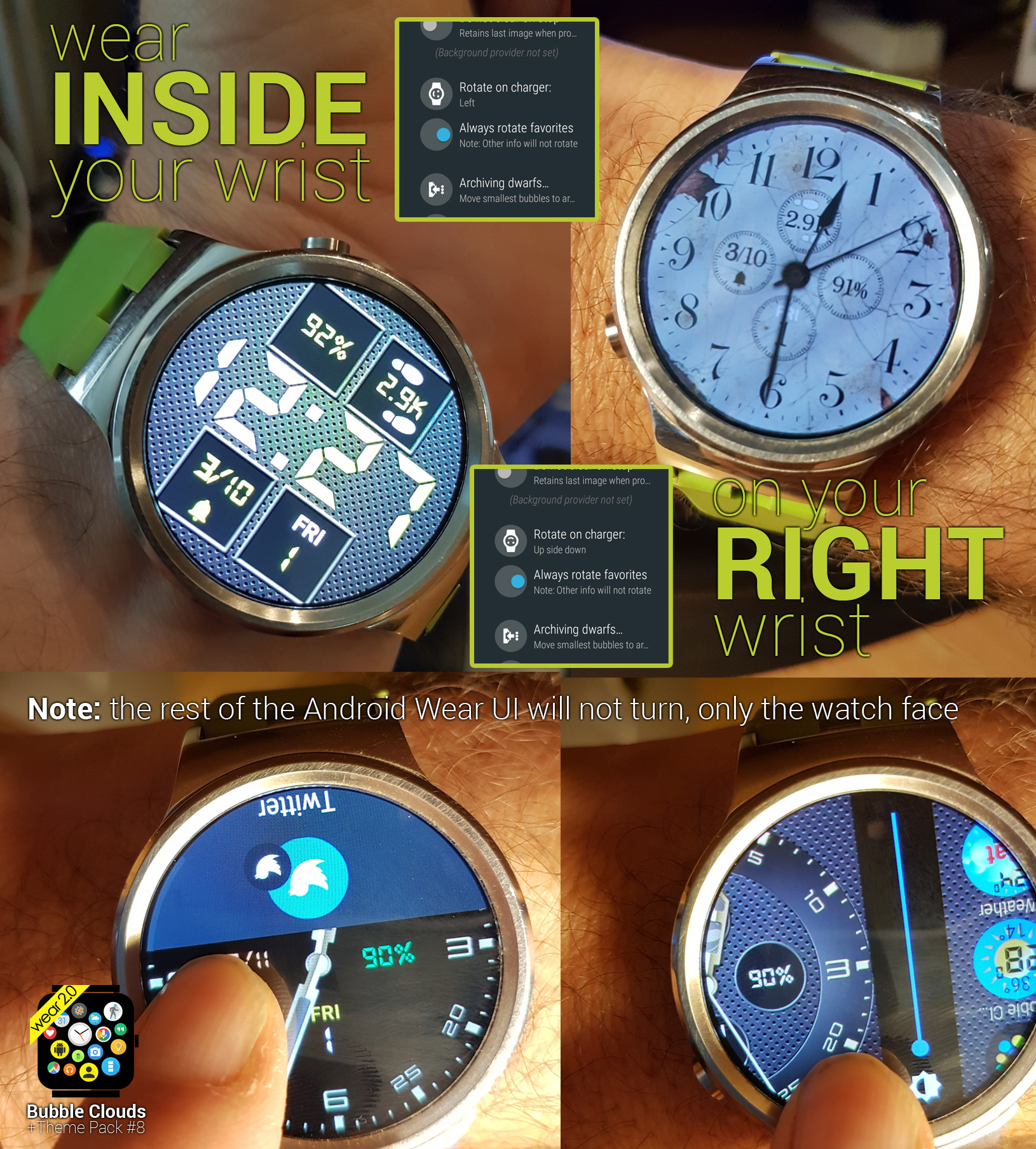 WATCH FACE ROTATION [expert option on watch]
