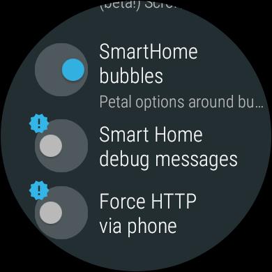 smart home control http debug